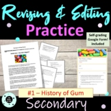 STAAR Writing Revising and Editing Passage - Expository - The History of Gum