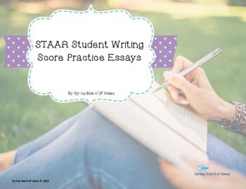STAAR Writing Samples for Practice Scoring, Revising, or Editing