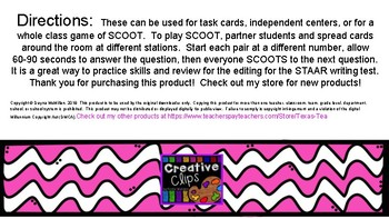 STAAR Writing Task Cards/SCOOT Editing Review