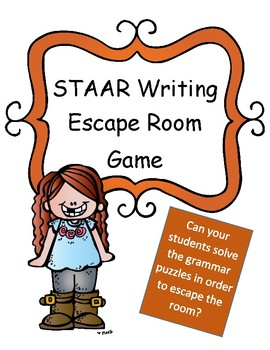 STAAR Writing Test Review Game: Escape Room