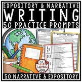 Expository Writing Prompts & Narrative Writing Prompts- Test Prep- 4th Grade