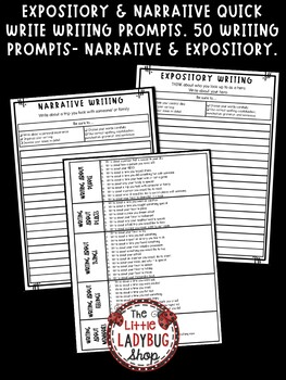 Expository Writing Prompts & Narrative Writing Prompts- Test Prep ELA 4th Grade