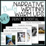 Writing Daily Editing Practice -- Narrative Writing Warm Ups - Set 1