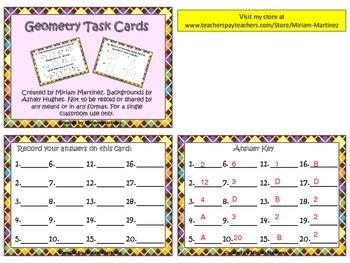 STAAR aligned Geometry task cards