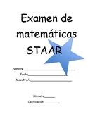 STAAR aligned math assessment (TEKS 3.8a/3.8B) (Spanish)
