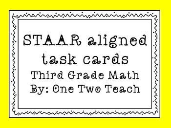 STAAR aligned task cards for RTI or Review