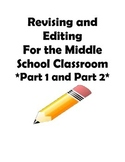 STAAR and Common Core- Revising and Editing Practice-Part 1 and Part II Bundle