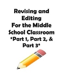 STAAR and Common Core- Revising and Editing Practice-Part I,II,and III Bundle