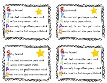 STAAR goodie bag template