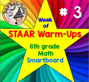 STAAR grade 6 Warmups Smartboard Slides Math STAAR Warm Up 5 days