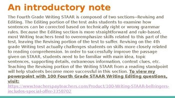 STAAR-like Revising Questions