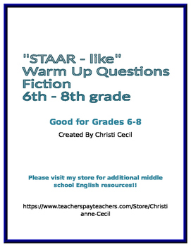 STAAR - like Warm Up - Fiction