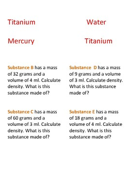 STAAR puzzle: Calculating density