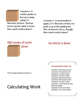 STAAR puzzle: Calculating work (and whether or not work is done)