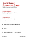 STAAR puzzle: Elements and Compounds