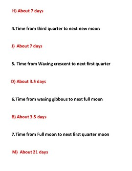 STAAR puzzle: Lunar Cycle Timing