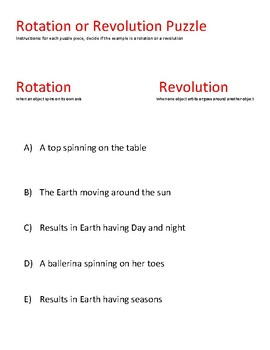 STAAR puzzle: Rotation or Revolution