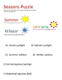STAAR puzzle: Seasons, solstices, and equinoxes
