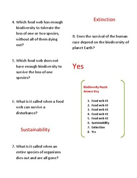 STAAR puzzle: biodiversity and sustainability