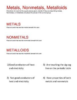 STAAR puzzle: metals, nonmetals, metalloids