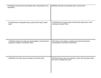 STAAR review sheet five