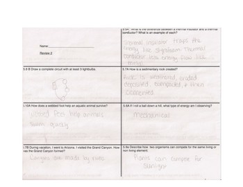 STAAR review sheet two