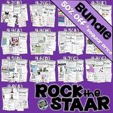 ♫ STAAR test 4th Grade Math TEST PREP activity stations BUNDLE