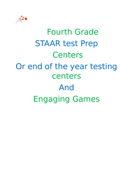 STAAR test prep games and centers