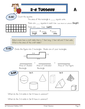 STAARS Daily Review of New TEKS:  3rd Grade--3rd 9 Weeks