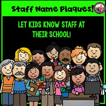 STAFF Name Plaques! Fun! Great for School Decor!