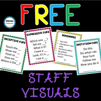 STAFF TRAINING VISUALS (FREEBIE) (sped/autism)