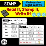STAMP Kindergarten Sight Words