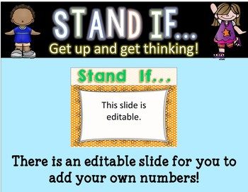 STAND IF: Greater Than, Less Than, Equal To
