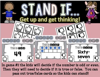 STAND IF: Odd & Even