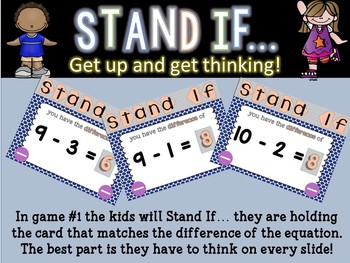 STAND IF: Subtraction 0-10