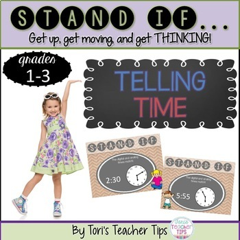 STAND IF: Telling Time {to the 5 minute}