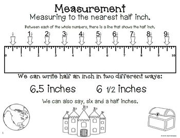 STANDARD Ruler Measurement Packet: How-to, Practice Pages, and Task Cards