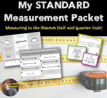 STANDARD Ruler Measurement Packet: How-to, Practice Pages,