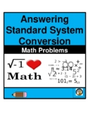 MATH- MEASUREMENT-STANDARD SYSTEM (FEET, INCHES) CONVERSION CHARTS- MATH