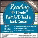 Reading Part A Part B Test, Task Cards NWT 1- Folktale, Nonfiction