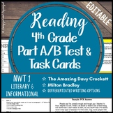 Reading Part A Part B Test, Task Cards NWT 1- Folktale, No