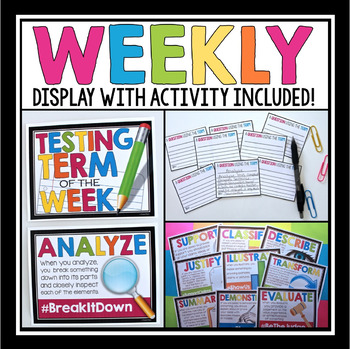 STANDARDIZED TEST TERMS POSTERS & ACTIVITY (Test Prep)