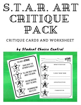 STAR Art Partner Critique Cards and Worksheet