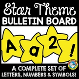 STAR BULLETIN BOARD LETTERS PRINTABLE (A-Z, NUMBERS, SYMBO