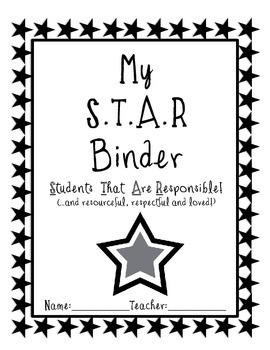 STAR Binder Cover for Upper Elementary - FREE