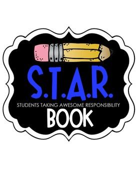 S.T.A.R. Book Clipart (blue)