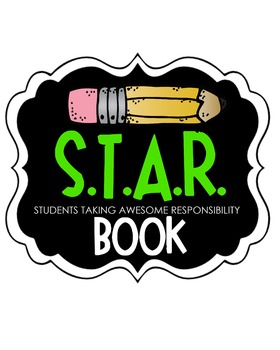 S.T.A.R. Book Clipart (green)
