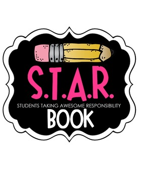 S.T.A.R. Book Clipart (pink)