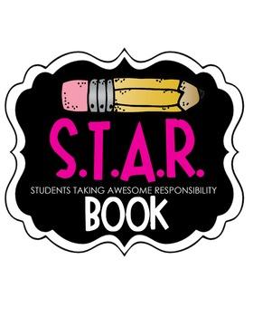 S.T.A.R. Book Clipart (purple)