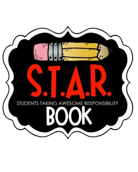 S.T.A.R. Book Clipart (red)